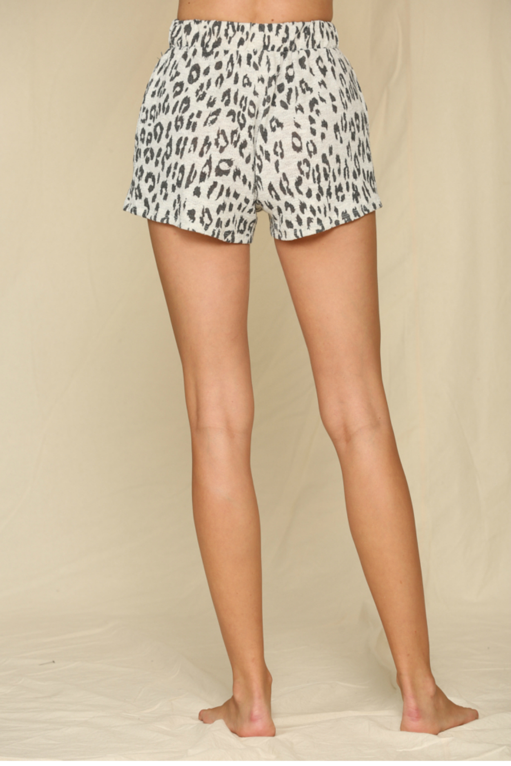 By Together  Leopard Hacci Shorts - Side Cropped Image