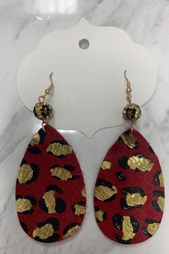 0-105 Leopard Hairon Earrings - Alternate List Image