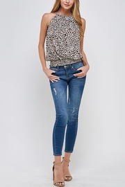 Allie Rose Leopard Halter Top - Product Mini Image