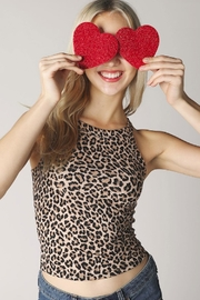 TIMELESS Leopard Halter Top - Product Mini Image