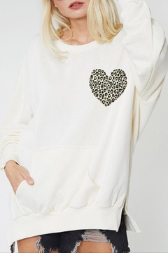 Fantastic Fawn Leopard Heart Top - Product List Image