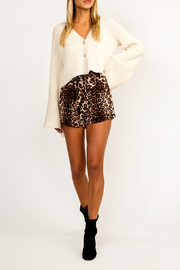 Olivaceous Leopard High Waist Mini Skirt - Product Mini Image