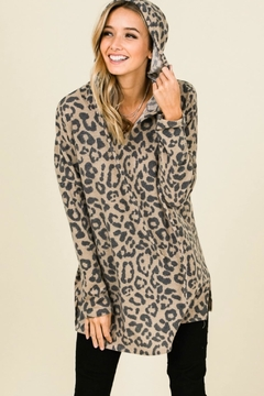 Shoptiques Product: Leopard Hooded Top