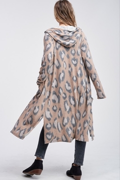 Phil Love  Leopard Hoodie Long Cardigan - Alternate List Image