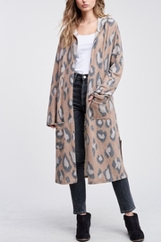 Phil Love  Leopard Hoodie Long Cardigan - Product Mini Image