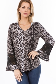 Vava by Joy Hahn Leopard Hoodie Top - Product Mini Image