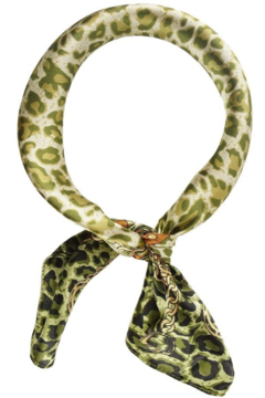 Olive & Pique Leopard Horse-Bit Neckerchief - Product List Image