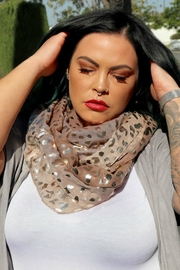 Minx Leopard Infinity Scarf - Product Mini Image