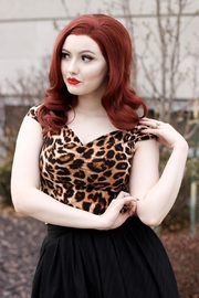 Retrolicious Leopard Isabel Top - Product Mini Image