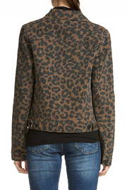 Elan Leopard Jean Jacket - Front full body