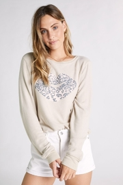 Wildfox Leopard Kiss Baggy Beach Jumper - Front cropped