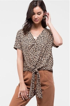 052325ea4c111b ... Blu Pepper Leopard Knit Cardi with Tie Front - Product List Placeholder  Image