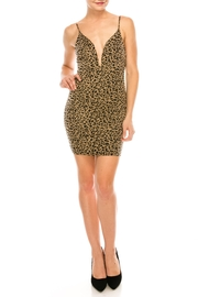 privy Leopard Knit Dress - Product Mini Image
