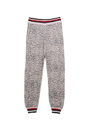 Splendid Leopard Knit Joggers - Product Mini Image