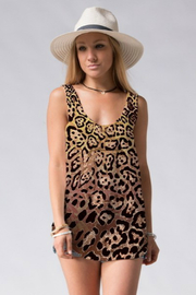 Fashionomics Leopard Knit Tank - Product Mini Image