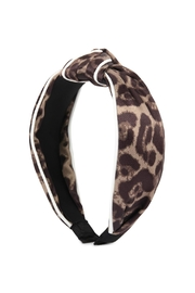 Riah Fashion Leopard Knotted Headband - Product Mini Image