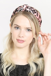 Riah Fashion Leopard Knotted Headband - Back cropped