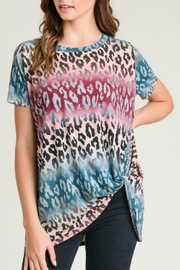 Jodifl Leopard Knotted Top - Front cropped