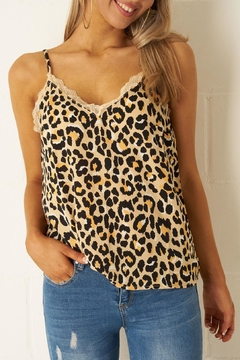 frontrow Leopard Lace Top - Product List Image