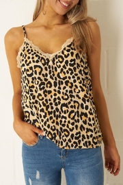 frontrow Leopard Lace Top - Product Mini Image