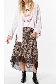 Zadig & Voltaire Leopard Lace-Trim Skirt - Front cropped