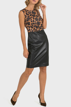 Joseph Ribkoff USA Inc. Leopard & Leather Sheath Dress - Product List Image