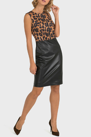 Joseph Ribkoff USA Inc. Leopard & Leather Sheath Dress - Product Mini Image