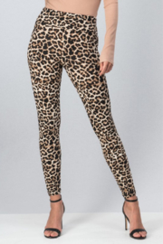 Trend Notes  Leopard Legging - Front full body