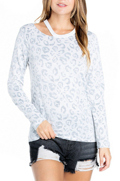 Dance & Marvel Leopard Lined Cut Neck Pullover - Product List Image