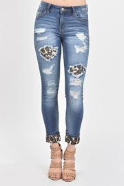 Kan Can Leopard Lined Denim - Product Mini Image