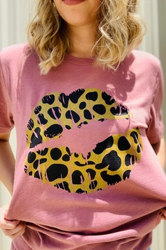 Shoptiques Product: Leopard Lips Tee