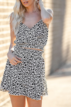 Glam Leopard Love crop top - Product List Image
