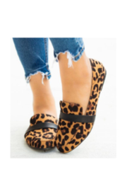 Lyn -Maree's Leopard Love Flats - Front cropped