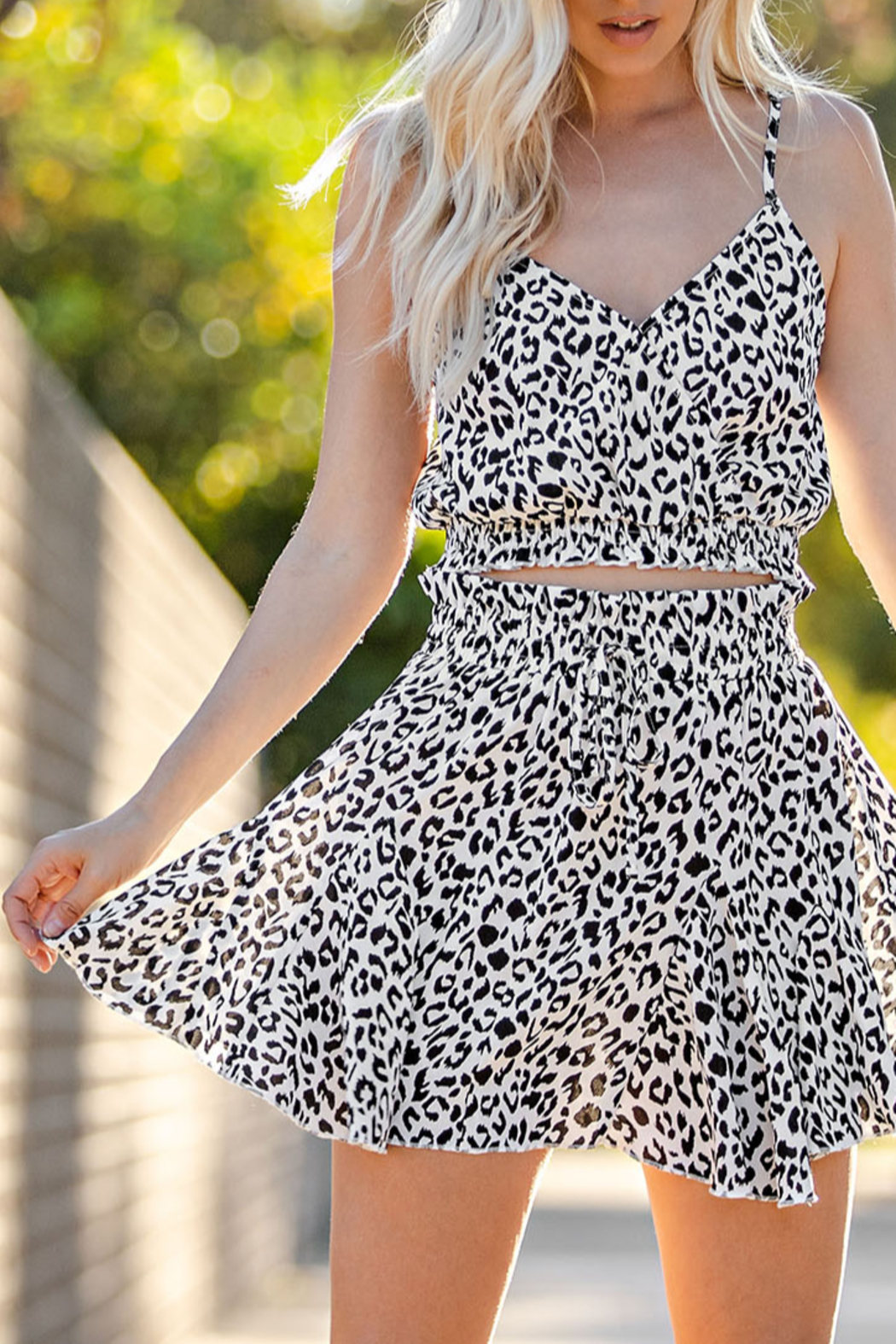 Glam Leopard Love skirt - Front Cropped Image
