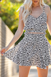 Glam Leopard Love skirt - Front cropped