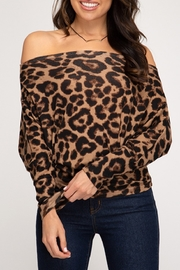 She + Sky Leopard Love Top - Product Mini Image