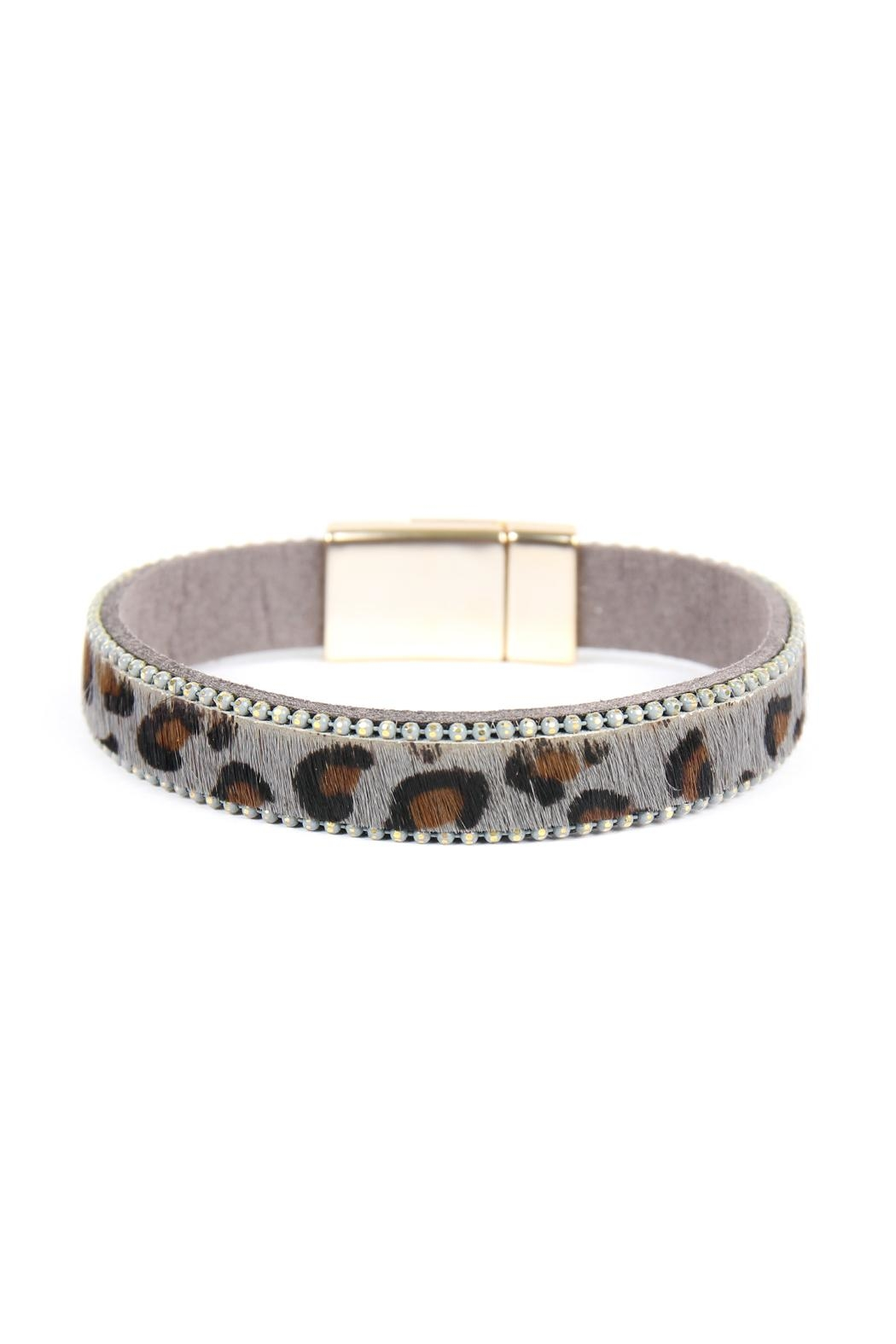 Riah Fashion Leopard-Magnetic Lock-Bracelet - Main Image
