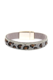 Riah Fashion Leopard-Magnetic Lock-Bracelet - Front cropped