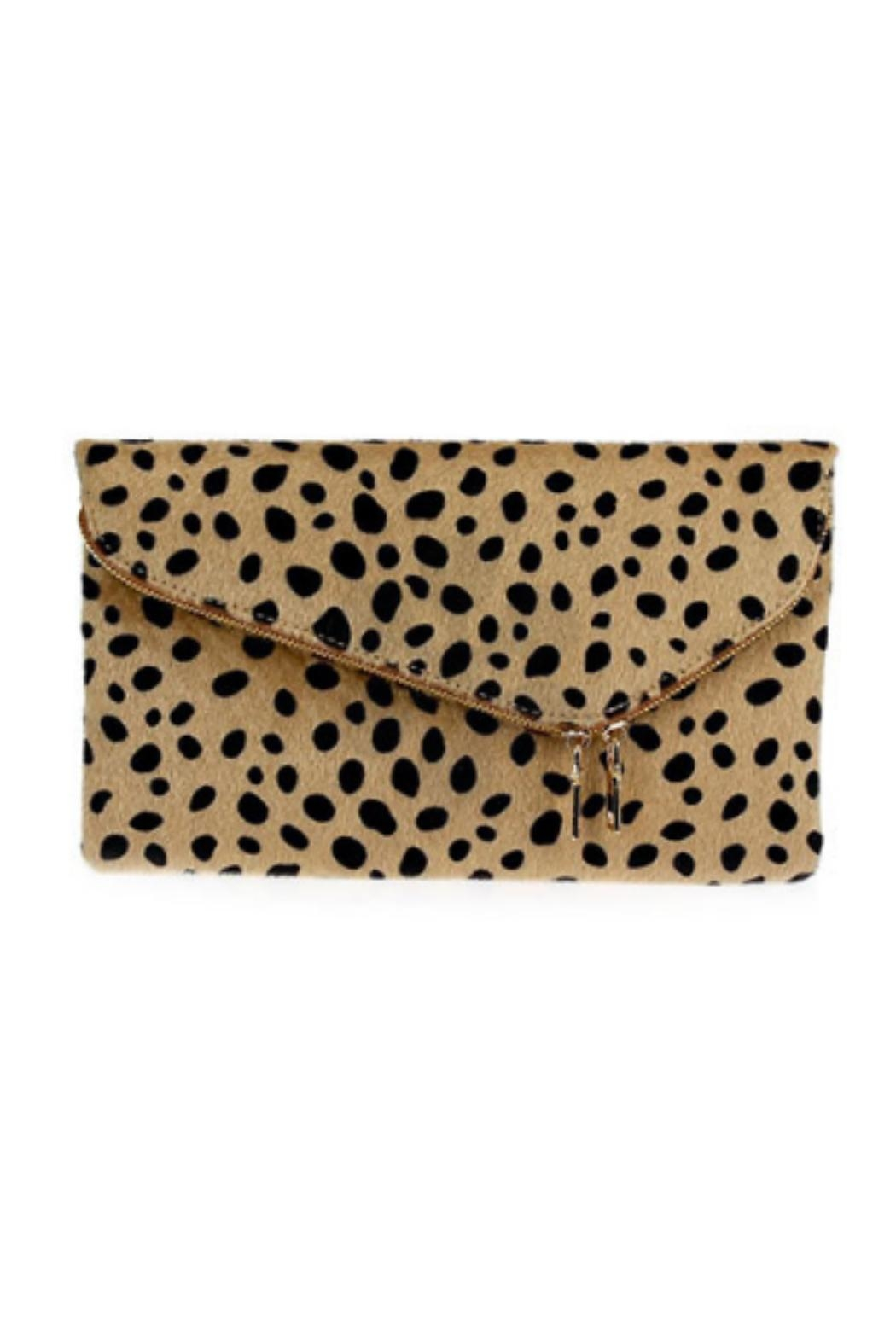 Embellish Leopard Medium Clutch - Front Cropped Image