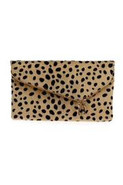 Embellish Leopard Medium Clutch - Front cropped