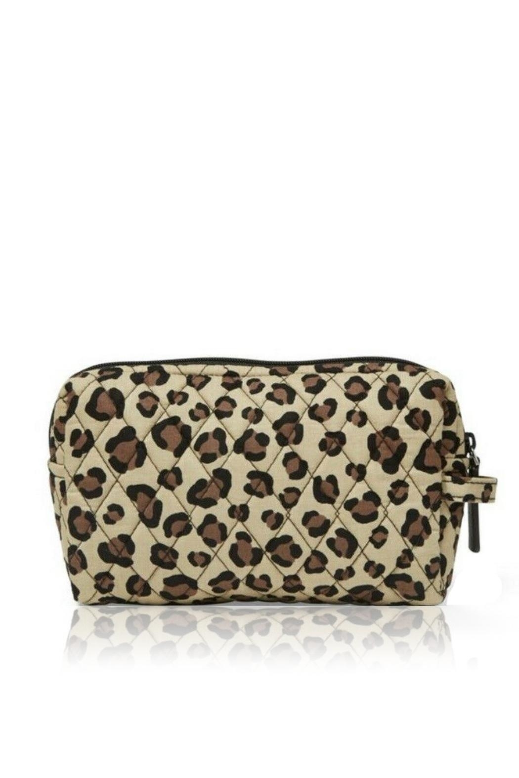 Vera Bradley Leopard Medium Cosmetic - Front Cropped Image