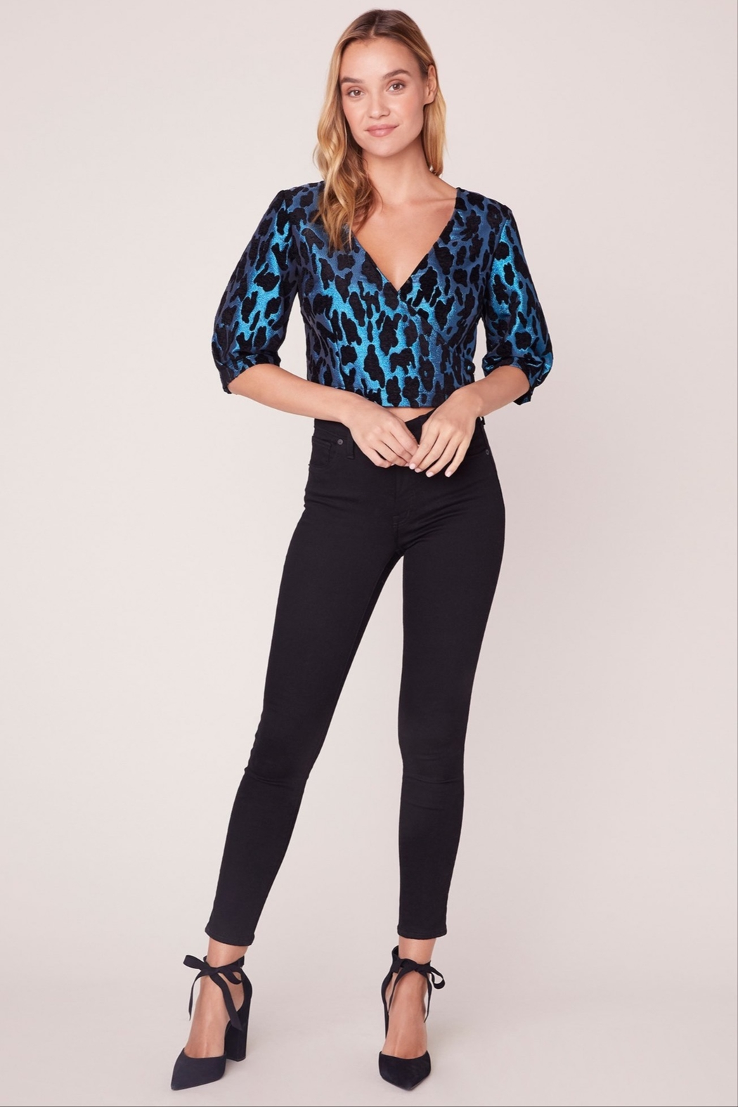 BB Dakota Leopard Metallic Top - Main Image