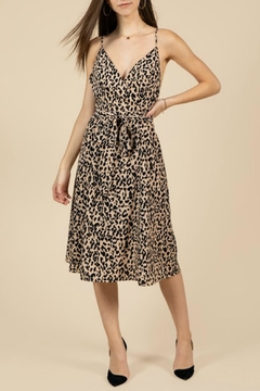Pretty Little Things Leopard Midi Dress - Product List Image
