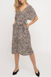 Lush Clothing  Leopard Midi Dress - Product Mini Image