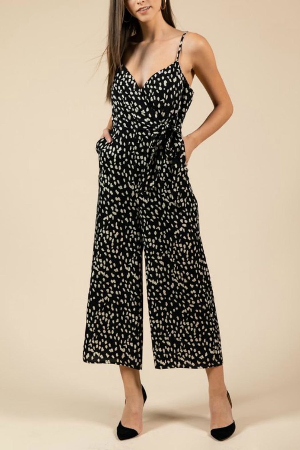 Pretty Little Things Leopard Midi Jumpsuit - Main Image