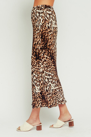 Olivaceous  Leopard Midi Skirt - Back cropped