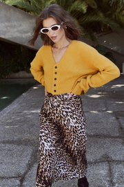 Olivaceous  Leopard Midi Skirt - Front full body