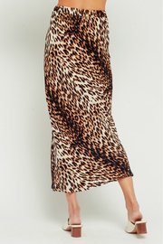 Olivaceous  Leopard Midi Skirt - Other