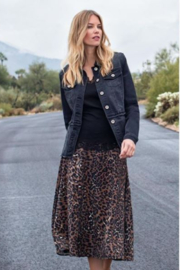 Tribal  Leopard Midi Skirt - Product Mini Image