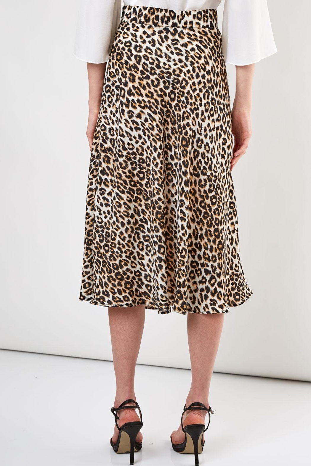 Do & Be Leopard Midi Skirt - Side Cropped Image
